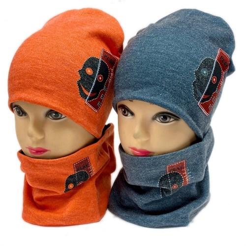 ambra комплект шапка двойной трикотаж + снуд (р.50-54) Play MBR - фото 28370