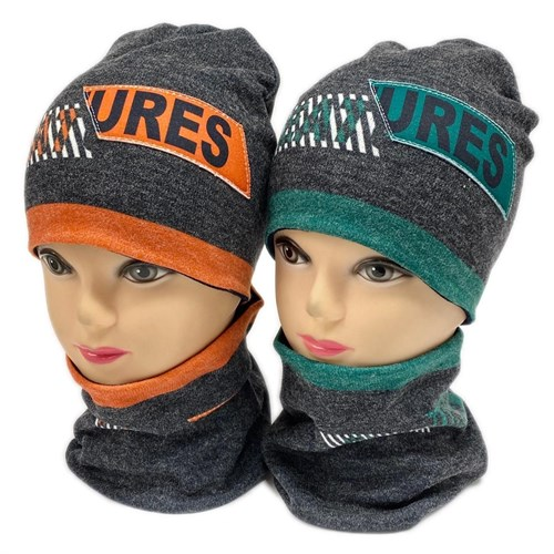 ambra комплект шапка двойной трикотаж + снуд (р.50-54) URES - фото 28371