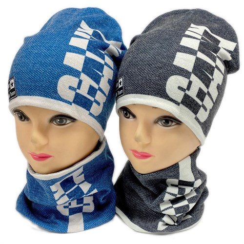 ambra комплект шапка двойной трикотаж + снуд (р.50-54) GANG - фото 28372