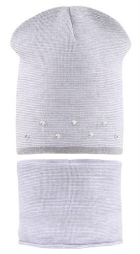 AGBO комплект 2753 Lista шапка двойная вязка + снуд (р.48-50) - фото 28433