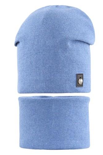 AGBO комплект 2072 FAZI шапка вязаная, подклад хлопок + снуд (р.52-54) - фото 28449