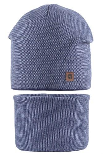 AGBO комплект 2101 Hegon шапка вязаная, подклад хлопок.+снуд (р.52-54) - фото 28469