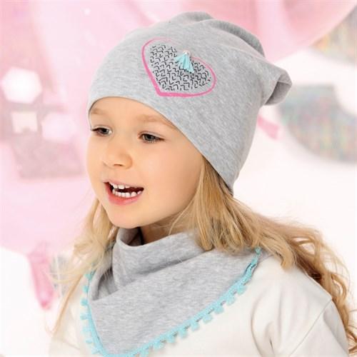 .AJS комплект 40-168L шапка одинарный трикотаж + косынка (р.52-54) - фото 28499