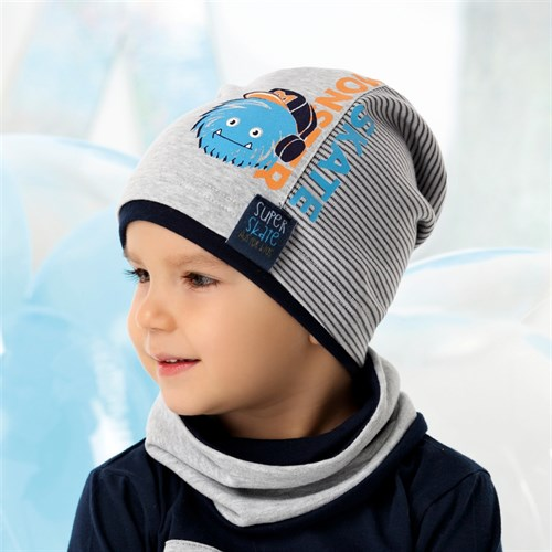 .AJS комплект 40-111 шапка одинарный трикотаж + снуд (р.48-50, 52-54) - фото 28525