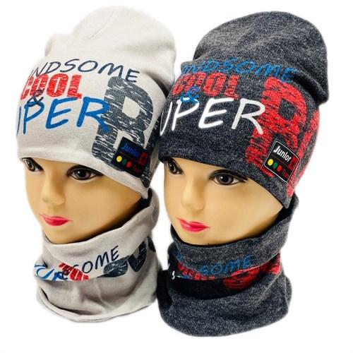ambra комплект шапка двойной трикотаж + снуд (р.50-54) Handsome cool - фото 28760