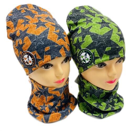 ambra комплект шапка двойной трикотаж + снуд (р.50-54) Jets - фото 28785