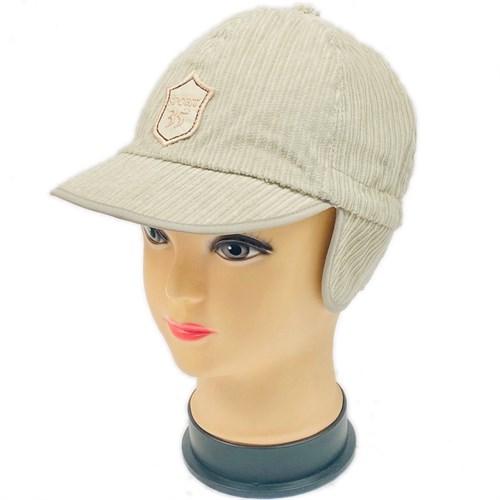 B&G кепка микровельвет (р.52-54) бежевый - фото 28849