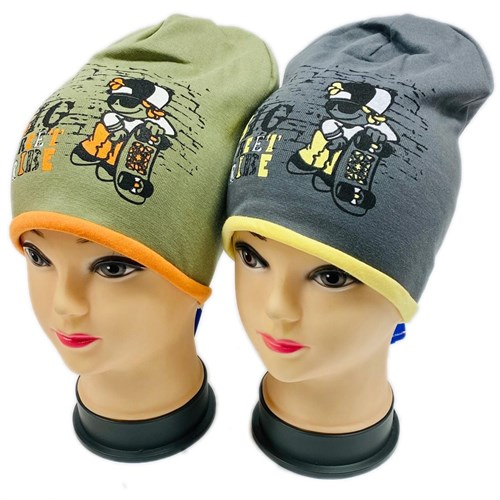 AGBO шапка 1142 BOLEK двойной трикотаж (р.50-52) - фото 28855