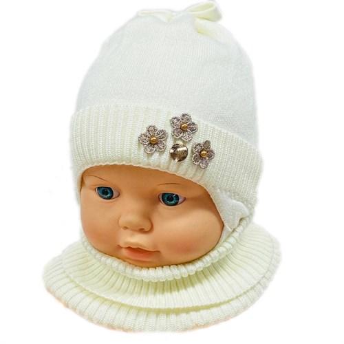 LAMIR комплект MUD 20/20 шапка вязаная, подклад хлопок + манишка (р.40-42) - фото 28896