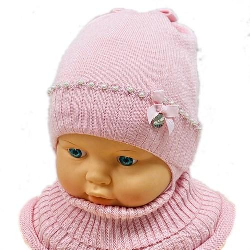 LAMIR комплект MUD 20/19 шапка вязаная,подклад хлопок + манишка (р.40-42) - фото 28910