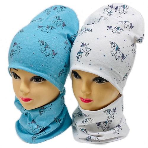 ambra комплект шапка двойной трикотаж + снуд (р.52-54) - фото 28924