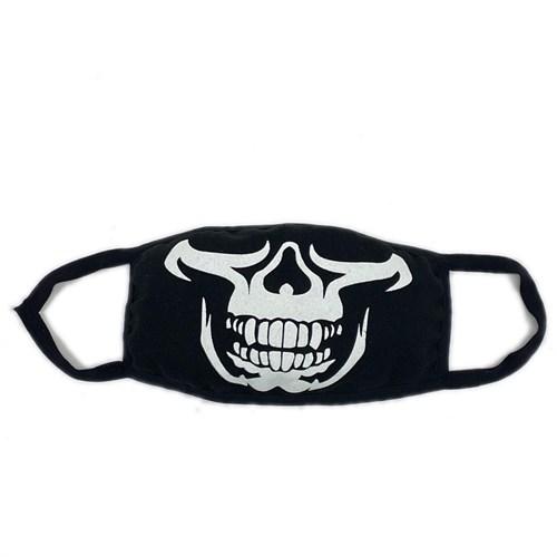 маска на лицо (трикотаж) рисунок-череп - фото 28938