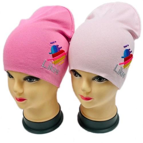 шапка модель Сердечко, двойной трикотаж (р.50-54) - фото 29312