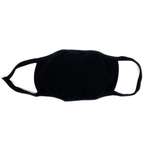 маска на лицо (трикотажная двухслойная) черная - фото 29417