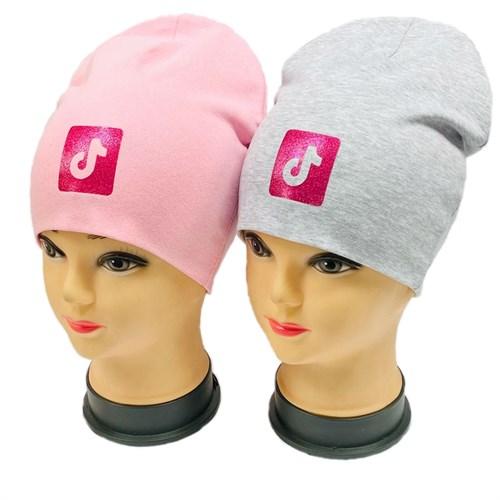 шапка двойной трикотаж (р.52-54) Тик-Ток - фото 29679