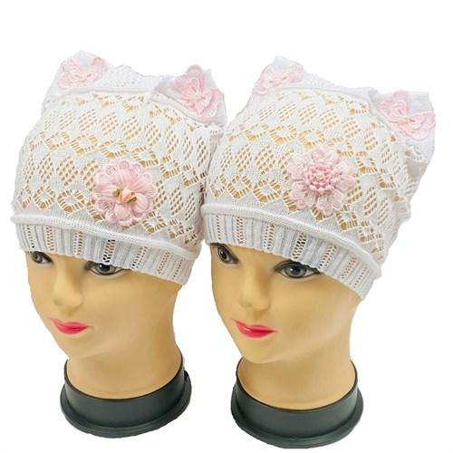 ажурная вязка шапка Кошечка Цветок (р.48-52) - фото 30151