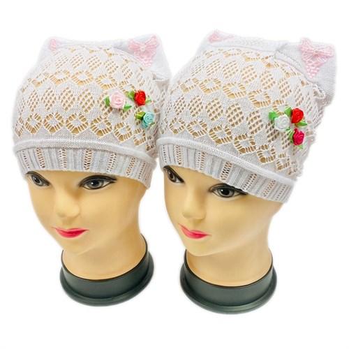 ажурная вязка шапка Кошечка Роза (р.48-52) - фото 30167