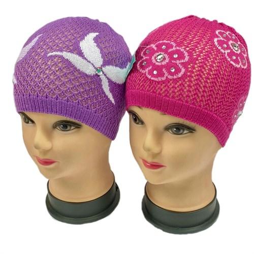 amal шапка ажурная вязка (р.48-52) - фото 30241