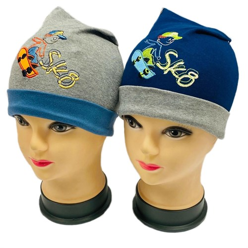 Lena шапка одинарный трикотаж (скейт)(р.48-50) - фото 30883
