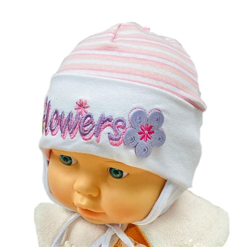 MP шапка одинарный трикотаж с завязками (р.44-46) - фото 31051