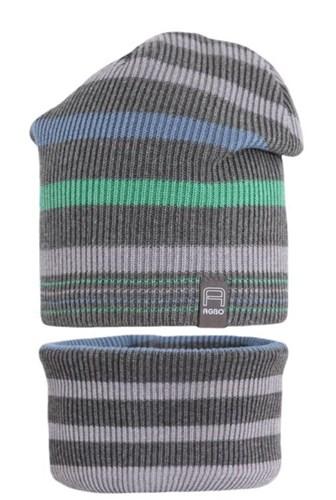 AGBO комплект 1956 EDEN шапка вязаная, подклад хлопок+ снуд (р.50-52) - фото 31157