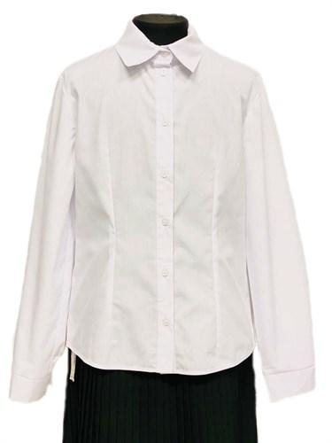 Anna-S nr А1/2020 блузка длинный рукав, белая (р.140,146,152,158,164,170) - фото 31194