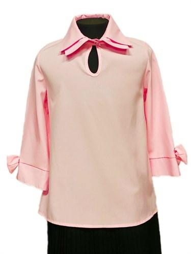 AGATKA блузка рукав 3/4, розовая (р.134-164) - фото 31202