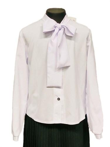Catherine блузка длинный рукав, прямая, белая (р.128-158) - фото 31217