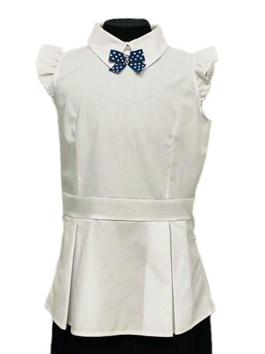 BG блузка-туника,крылышки, белая (рост 134-164) 6шт. - фото 31236