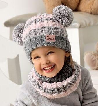.AJS комплект 40-441 шапка на флисе + снуд (р.52-54) - фото 31488