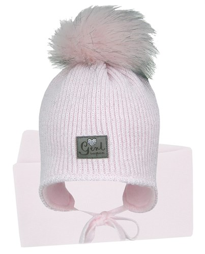GRANS комплект A 1032 ST шапка с утеплителем, подклад хлопок + шарф (р.42-44) - фото 31504