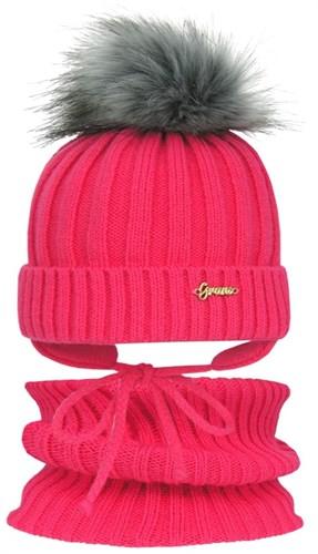 GRANS комплект A 808 ST шапка с утеплителем, подклад хлопок + снуд (р.50-52) - фото 31506