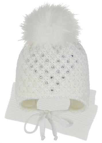 GRANS комплект A 1028 ST шапка с утеплителем, подклад хлопок + шарф (р.40-42) - фото 31507