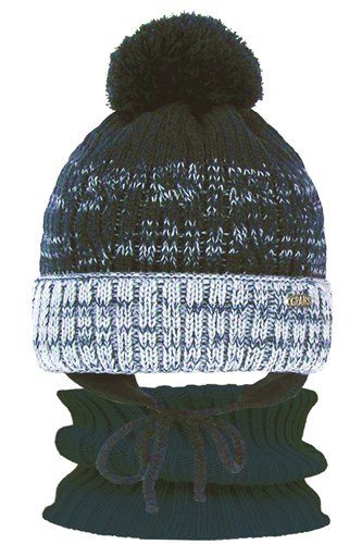 GRANS комплект  A 1113 ST шапка с утеплителем, подклад хлопок+снуд (р.50-52) - фото 31516