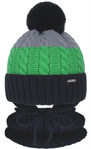 Grans комплект A 1105 ST шапка с утеплителем, подклад хлопок+снуд (р.46-48) - фото 31517