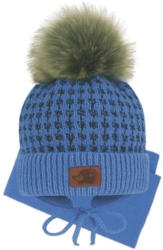 Grans комплект A 1097 ST шапка на утеплителе+шарф (р.42-44) - фото 31518