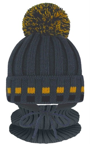 Grans комплект A 1102 ST шапка с утеплителем, подклад хлопок+снуд (р.46-48) - фото 31519
