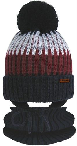 GRANS комплект  A 1119 ST шапка вязаная с утеплителем+снуд (р.50-52) - фото 31520