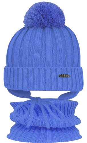 GRANS комплект  A 809 ST шапка с утеплителем, подклад хлопок+снуд (р.46-48) - фото 31522