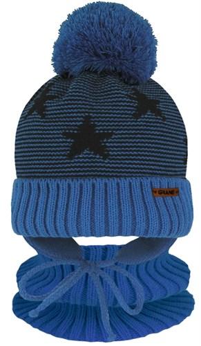 Grans комплект A 1103 ST шапка на утеплителе+снуд (р.44-46) - фото 31523