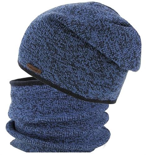 GRANS комплект K 479 ACR шапка вязаная на хлопке+ снуд (р.52-54) - фото 31525