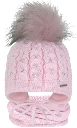 GRANS комплект A 1030 ST шапка с утеплителем, подклад хлопок + снуд (р.42-44) - фото 31529
