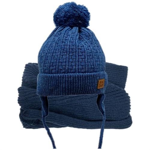 GRANS комплект  A 903 ST шапка с утеплителем, подклад хлопок+снуд (р.44-46) - фото 31558