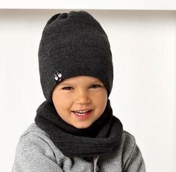 .AJS комплект 40-467 шапка двойная вязка+снуд двухсторонняя (р.50-52) - фото 31648