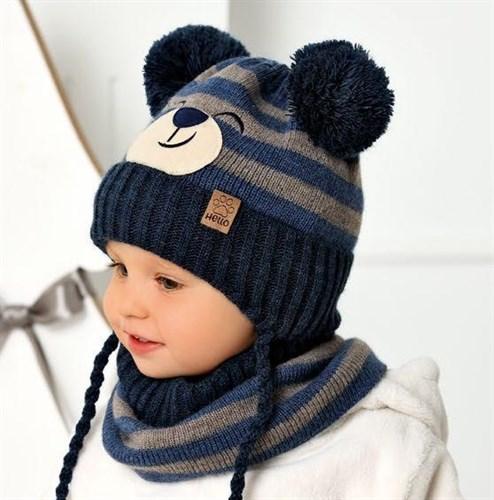 .AJS комплект 40-437 шапка на флисе +снуд (р.46-48) - фото 31657