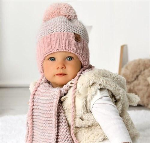 .AJS комплект 40-407 шапка на флисе +шарф(р.44-46) - фото 31659