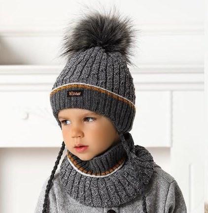 .AJS комплект 40-473 шапка на флисе +снуд (р.48-50) - фото 31733