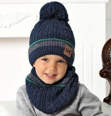 .AJS комплект 40-524 шапка на флисе +снуд (р.50-52) - фото 31800
