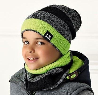 .AJS комплект 40-563 шапка двойная вязка+снуд (р.52-54) - фото 31807