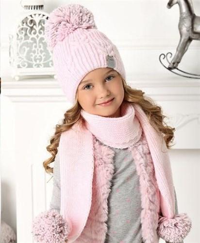 .AJS комплект 40-476 шапка подклад флис + шарф (р.52-54) - фото 31823